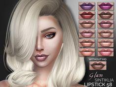 Lipstick 58 by Sintiklia at TSR via Sims 4 Updates