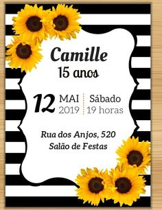 Wedding Invitation Templates, Wedding Invitations, Sunflower Party, Baby Mickey, Ideas Para Fiestas, New Years Eve Party, Rsvp, Party Themes, Happy Birthday
