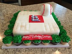 St Louis Cardinals Cake Erin Koirtyohann Baseball Party Ideas