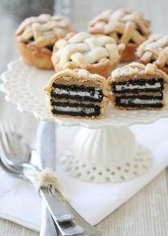 Oreo + Peanut Butter Pies