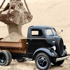 1939 Ford COE short body dump truck Colorized by Imbued with Hues