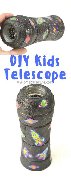 Pretend or imaginary play just got even more fun! Make a telescope for kids using household items. Just how far do you think they will be able to see now? #space #kids #kidscraft #diy #galaxyunit #telescope | Galaxy Unit | Learning about the Galaxy | Learning about Space | Do it yourself crafts | Easy crafts for kids | Simple crafts for kids | Kids Crafts | Homeschool Learning DIY | Space Homeschool Unit | Galaxy Homeschool Unit via @myhomebasedlife