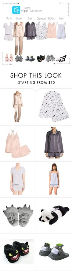 """""""Lunar (루나) Vapp Livesteam"""" by lunar-official ❤ liked on Polyvore featuring Neiman Marcus, Equipment, Three J NYC, Natori, Eberjey and lunarvapp"""