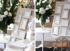 Using picture frames for the seating arrangement