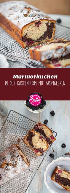 tender and aromatic marble cake with hazelnuts in batter and juicy blackberries. A tender and aromatic marble cake with hazelnuts in batter and juicy blackberries. Sully Cake, Hazelnut Cake, Cake Shapes, Marble Cake, Cake Trends, Savoury Cake, Other Recipes, Clean Eating Snacks, No Bake Cake