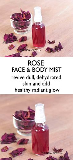Rose Face and Body Mist to revive dry, dehydrated skin Hair Care Anti Aging Skin Care, Natural Skin Care, Natural Face, Natural Beauty, Diy Skin Care, Skin Care Tips, Body Mist, Beauty Recipe, Face And Body
