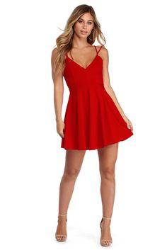 Red Skirt Skirt Skater Dress