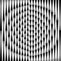By visual artist Gianni A. Sarcone: Self moving op'art picture. In Memoriam of Madeleine Kirchner.
