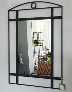 Our wrought iron mirrors are made using only top quality mirrored glass, which can be plain or bevelled. Iron Furniture, Beveled Glass, Wrought Iron, Mirrors, Oversized Mirror, Chrome, Steel, Interior, Top