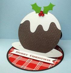 Fichier gratuit carte chevalet Gâteau de Noël