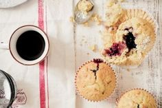 Muffin con avena e marmellata