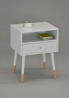 #Ebay #White #Modern #Nightstand #Wood #Bedroom #End #Table #Bedside #With #Drawer #Mid #Century  #Unbranded #Modern
