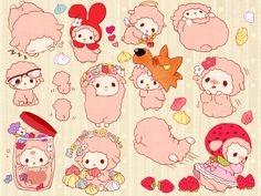 Find images and videos about cute, pink and kawaii on We Heart It - the app to get lost in what you love. Arte Do Kawaii, Kawaii Shop, Anime Kawaii, Kawaii Art, Sooo Kawaii, Kawaii Doodles, Sanrio Characters, Cute Characters, Hello Kitty