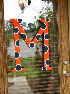 Auburn Initial for door.