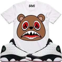 42b10204a86764 CINNAMON BAWS White Sneaker Tees Shirt - Jordan 13 He Got Game