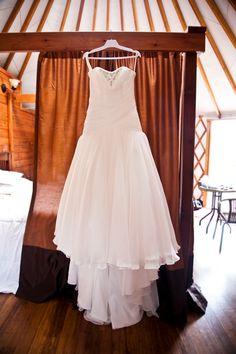 Beautiful wedding dress hung up in the yurt Wedding Stuff, Dream Wedding, Honeymoon Suite, Victoria Wedding, Bridal Suite, Marry You, Island Weddings, Vancouver Island, Wedding Party Dresses