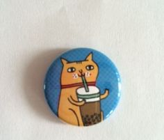 HELP US FEED OUR FERAL CATS AND RESCUED KITTENS CHARITY CAT RESCUE SODA POP PIN  #CatButtonPin