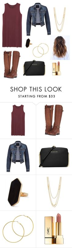 """Untitled #80"" by genevamq on Polyvore featuring Monki, Naturalizer, maurices, MICHAEL Michael Kors, Jaeger, Gorjana, Melissa Odabash and Yves Saint Laurent"