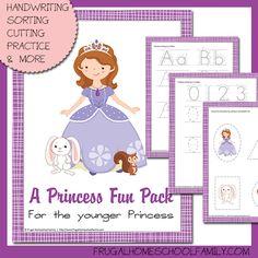 FREE Sophia the First-themed Preschool Pack