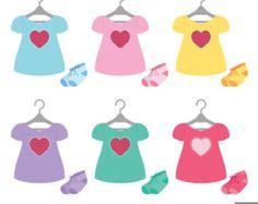 Girl Baby Shower Digital Clipart