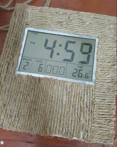 Turn a simple clock into a rustic masterpiece using two simple things - jute rope and fevicol (white glue) #simple #diy #tigernwoods #resort #pench #tigerreserve #india
