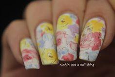 full nail water decal flower nail art design idea full nail water decal oil painting design idea #nails #nailart #nailit #nailpromote #beauty #blogger #manicure #nailsoftheday #notd #nailed #nailedit