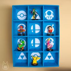 Smash Bros. Amiibo Display Case (Tutorial) by studioofmm