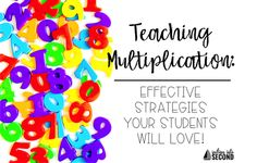 Multiplication strategies that are effective and useful for your students! Multiplication Strategies, Teaching Multiplication, Teaching Vocabulary, Math Strategies, Help Teaching, Math Resources, Math Activities, Maths, Teaching Ideas