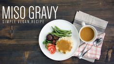Miso Gravy   Simple Vegan Recipe This is my miso gravy for Thanksgiving. I show you how to make vegan gravy with carrots mushrooms onions garlic and some nice salty miso paste. I had something similar a while back and thought I'd make my own version for this holiday! This side is delicious with any type of dish with or without meat. Stay till the end where I discuss the different kinds of miso you can use! Serves 2 Ingredients: 1/4 cup diced onions 1/4 cup diced carrots 1/4 cut diced celery…