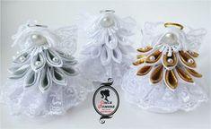Новости Ribbon Crafts, Flower Crafts, Diy Flowers, Fabric Flowers, Christmas Ribbon, Christmas Angels, Christmas Crafts, Christmas Ornaments, Quilted Ornaments