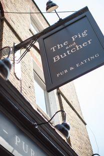 The Pig and Butcher 80 Liverpool Road, Islington, Ph: 020 7226 8304 Pub Signs, Beer Signs, Pub Logo, Cheese Store, Pub Interior, Green Zebra, Exterior Signage, Pubs And Restaurants