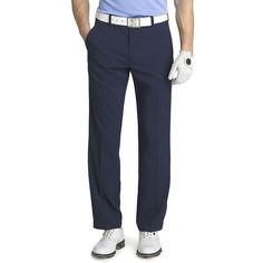 Men's IZOD Straight-Fit Performance Flat-Front Golf Pants, Size: 40X30, Dark Blue
