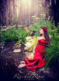 Enchanted forest creative photography session.