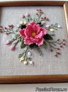 Wonderful Ribbon Embroidery Flowers by Hand Ideas. Enchanting Ribbon Embroidery Flowers by Hand Ideas. Brazilian Embroidery Stitches, Embroidery Stitches Tutorial, Hand Embroidery Patterns, Vintage Embroidery, Embroidery Techniques, Embroidery Kits, Ribbon Embroidery, Cross Stitch Embroidery, Butterfly Embroidery