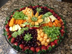 Fruit Platter for Zoey's Baby Blessing | Fruit plates | Pinterest