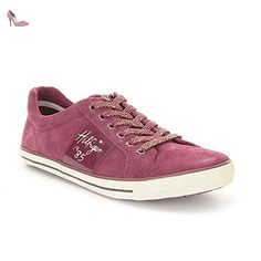 Tommy Hilfiger - S3285AMMIE 3C1 - FG56822057619 - Couleur: Bordeaux - Pointure: 36.0 - Chaussures tommy hilfiger (*Partner-Link)