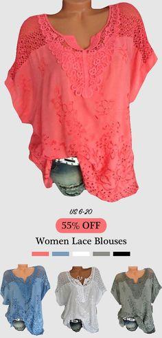 8e9bc2b86276f0 Lace Crochet Hollow V-neck Short Sleeve Blouses. Lace Bra