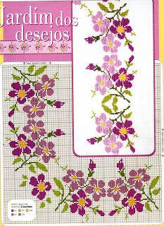 Beaded Cross Stitch, Cross Stitch Borders, Cross Stitch Flowers, Counted Cross Stitch Patterns, Cross Stitch Designs, Cross Stitching, Cross Stitch Embroidery, Baby Record Book, Kerala Mural Painting
