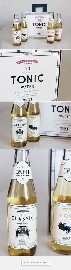Label design for Craft Tonic Water. Tonic Water, Gin And Tonic, Tonic Syrup, Label Design, Package Design, Graphic Design, Beverage Packaging, Bottle Design, Packaging Design Inspiration