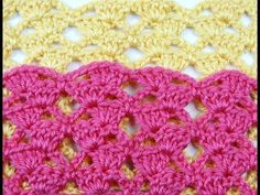Crochet: Punto Escalera # 7 - YouTube