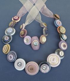 Buttons Jewellery  Set  Provence by ButtonscBows on Etsy, $55.00