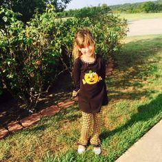 Bonnie Jean fun pumpkin tunic with leggings