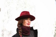 #hat #coat #fashion #lifestyle #burgundy #fashionblog #fashionblogger #black #winter #accessories