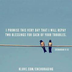 Encouraging Bible Verse: Zechariah 9:12