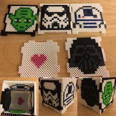 Star Wars box perler beads by mammaoftwins