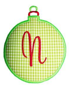 Single Ornament Applique Design