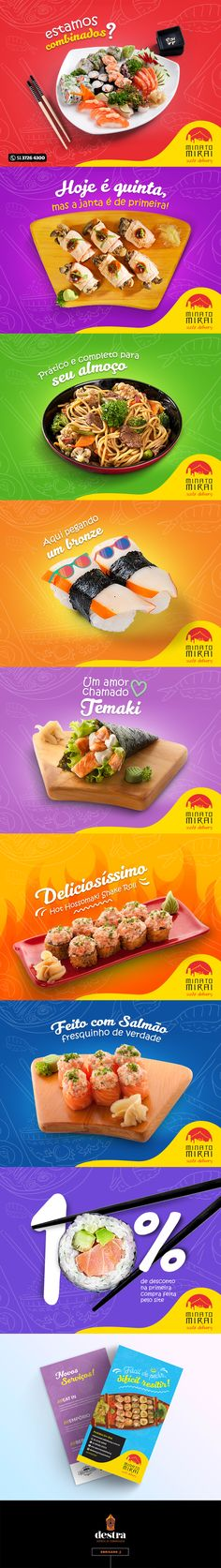 Identidade visual Minato Delivery - Sushi on Behance