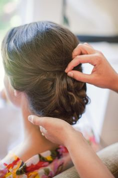 Pretty updo: http://www.stylemepretty.com/north-carolina-weddings/2015/05/11/romantic-rock-barn-country-club-north-carolina-wedding/ | Photography: Diana Lupu - http://dluphotography.com/