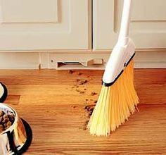 Vacuum in toe-kick -- just sweep it in!