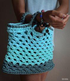 Cómo hacer un bolso con trapillo y que no pese